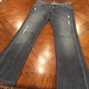 7 for All Mankind jeans Sz 28 distressed Blue pant